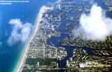 2003 - Ft. Lauderdale beach from Sunrise Boulevard to Port Everglades landscape aerial stock photo #6586