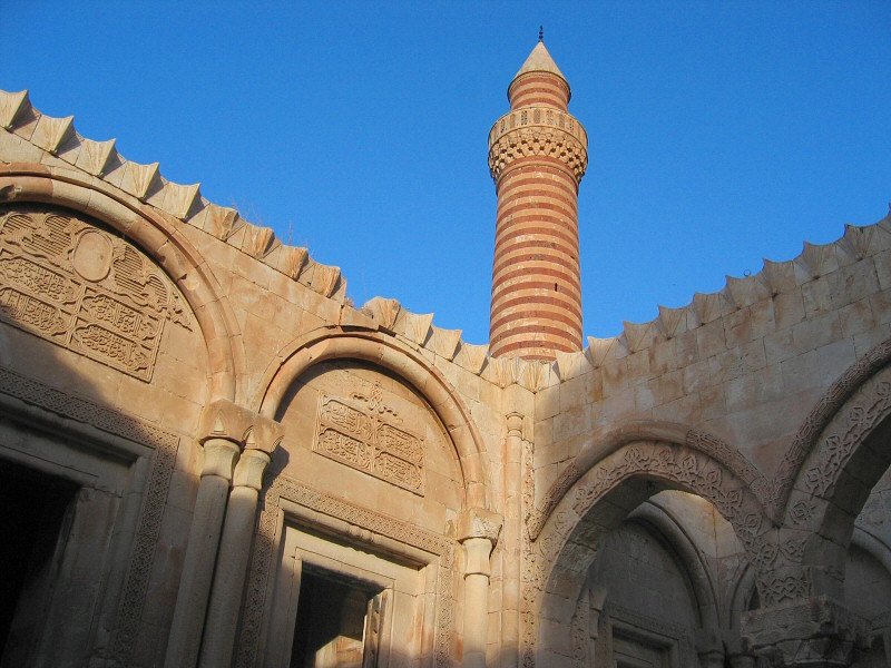 The minaret, seen from the open-air dining area