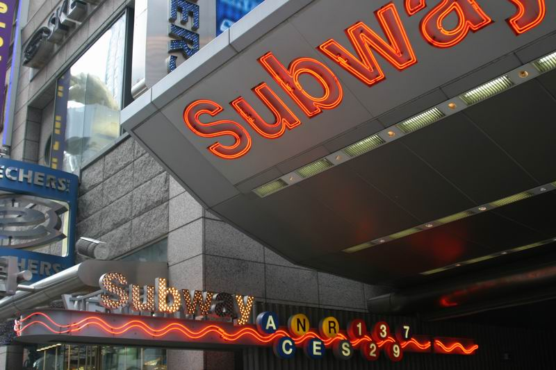 Subway station on 42st and 7th Ave