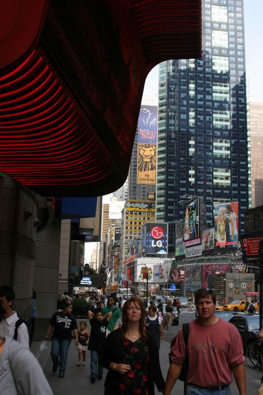 looking at times square from 42st