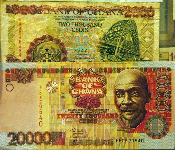 Ghanas currency is the Cedi (now obsolete)