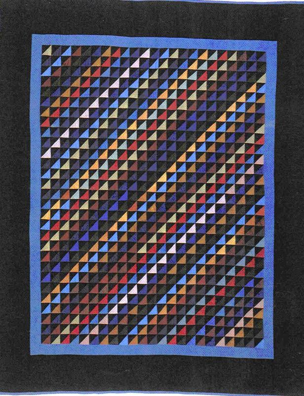 015:Diagonal Triangles-Holmes County, OH     c.1930  80x68