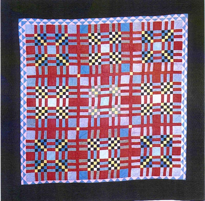 030:Tartan variation-Mifflin County PA c.1930  68x68
