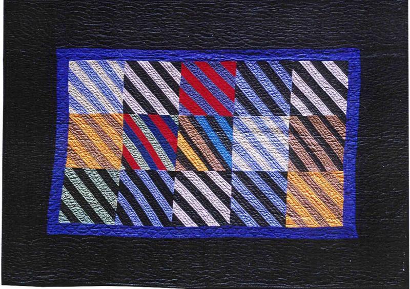 049:Stripes crib-Wisconsin c. 1930  59x42
