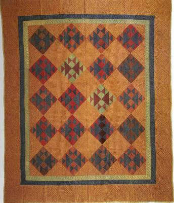 013:Crosses and Losses-Holmes County, OH -dated in quilting 1898  80x69