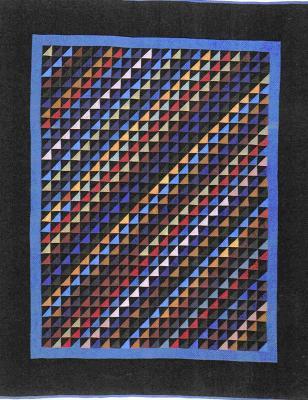 015:Diagonal Triangles-Holmes County, OH     c.1930  80x68