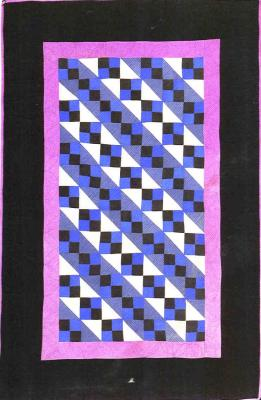 053:Four Patch variation crib-Midwest 1930  53x35