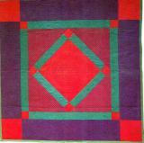 007:Center Diamond-Barbara Fisher ,LancasterCounty,PA c.1900  82x82