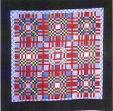 030:Tartan variation-Mifflin County PA c.1930  68x68