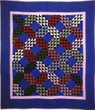 046:Ocean Waves Holmes County, OH-1927 J.B.  in quilting  84x74