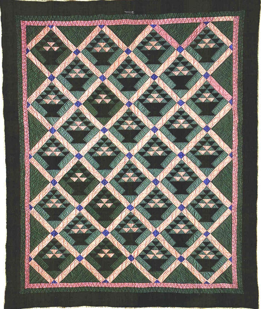 048:Baskets-LaGrange County, IN -dated in quilting 1935  83x69