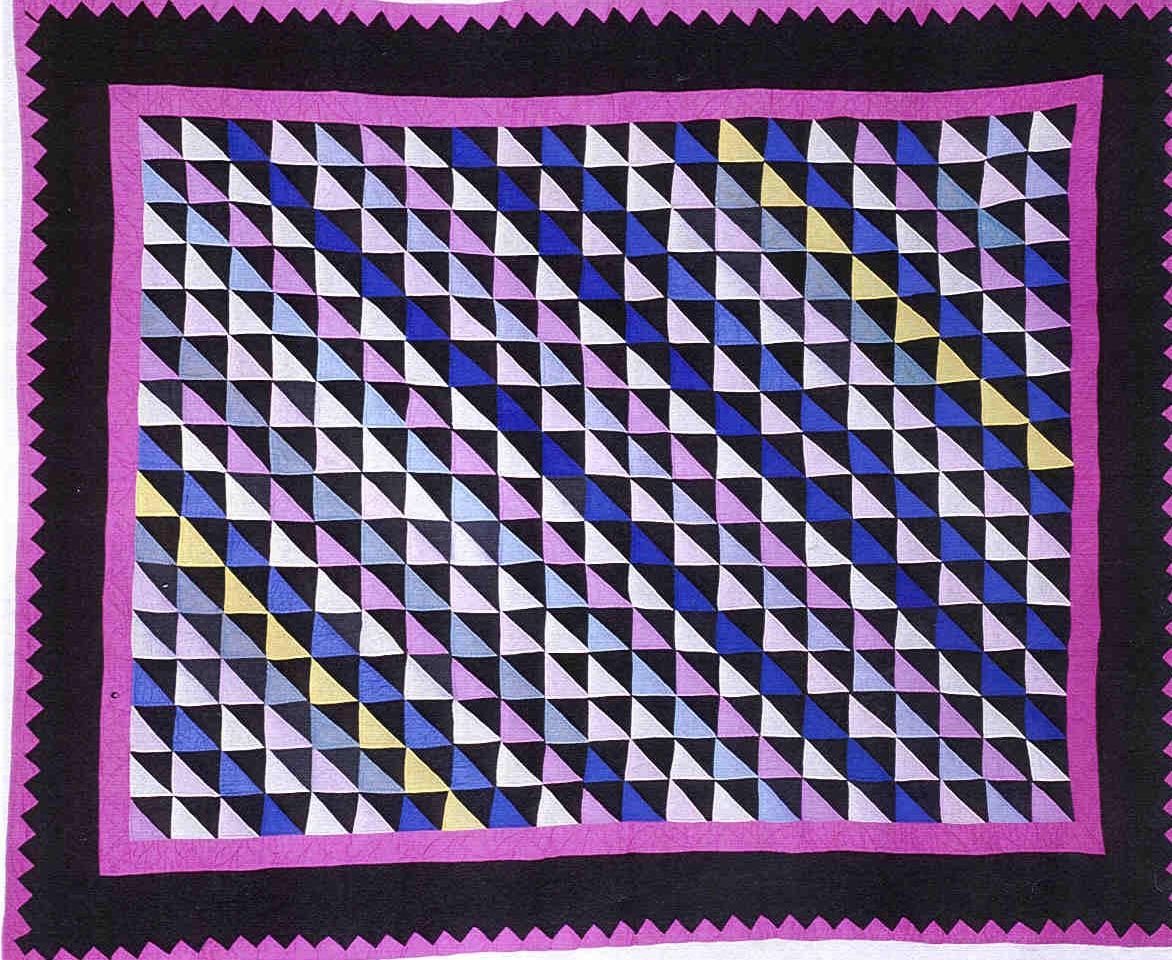 039:Diagonal triangles-Dena Raber, Holmes County, OH 1940  76x62
