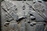 Scenes of kings meeting gods
