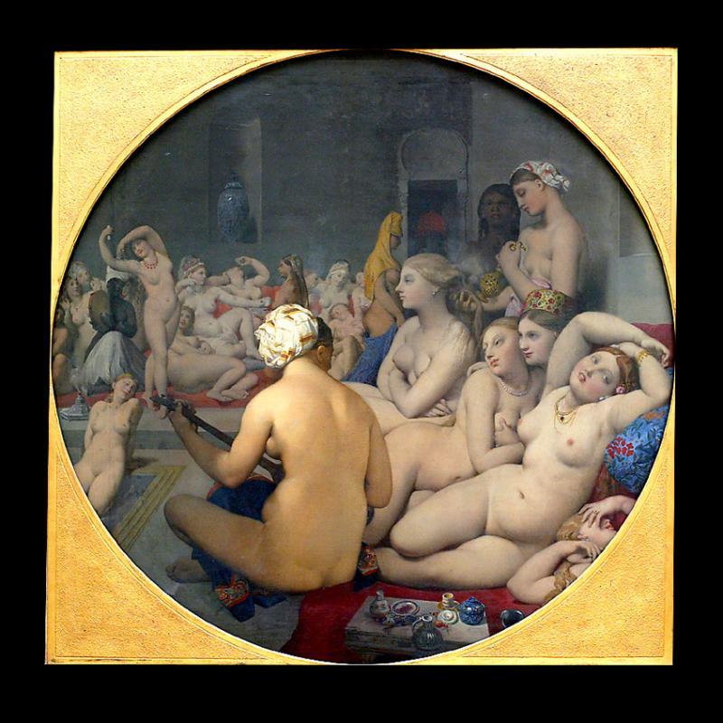 Le bain turc (1862) par Jean Auguste Dominique INGRES