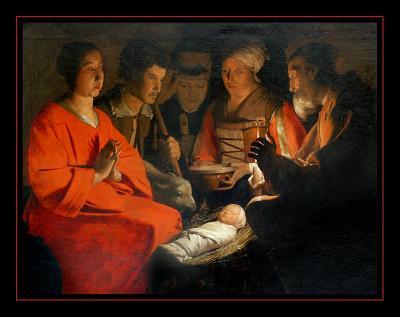 L Adoration des Bergers (1644) par Georges de LA TOUR