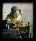 La Dentellière (1665) par Jan VERMEER