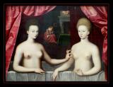 Portrait de Gabrielle d' Estrées et d'une de ses soeurs (1594) Anonyme