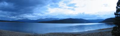 Turquoise Lake panorama from Tabor Boat Ramp