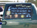 Matt's crew van at Tree Line