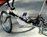 Porta-Cycle's massive, breechblock-type latch assembly