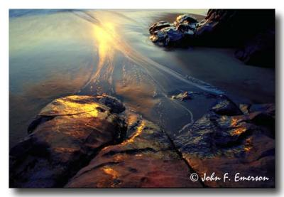 Sunset Reflections in Sand