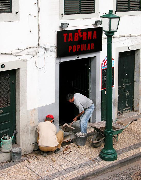 Sidewalk Repair at Taberna Popular