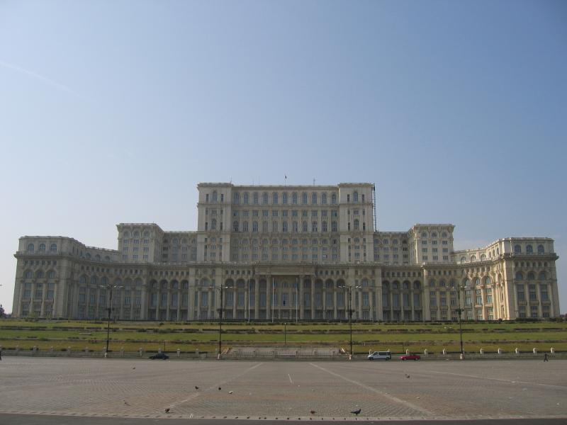the Palace of Parliament - the worlds second largest building after the US Pentagon