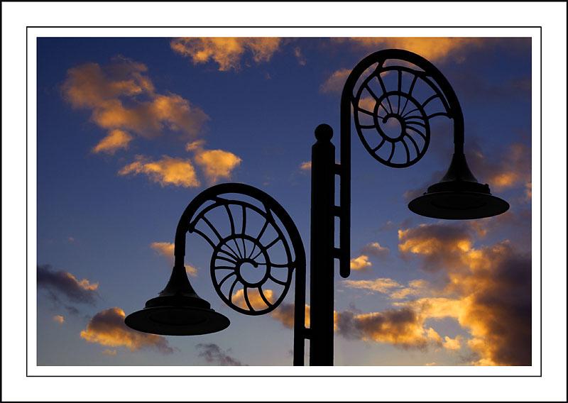 Lamp-posts, Lyme Regis