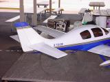 model airplane blue and white in color