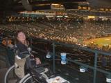 Tammy at the Diamondbacks  baseball game, we won 9 to 3