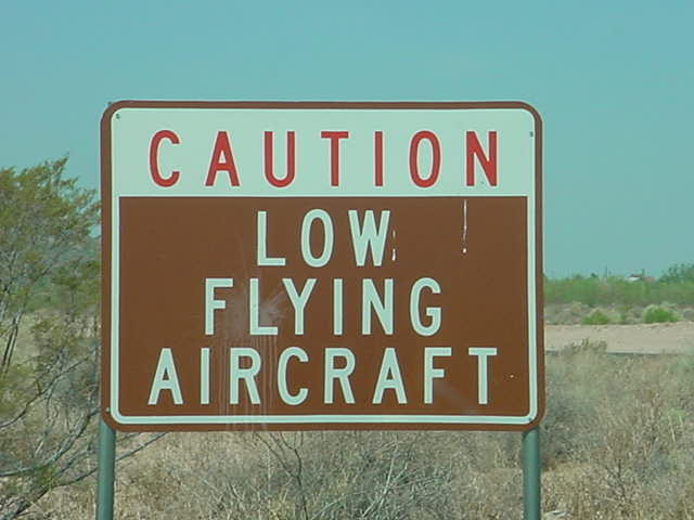 caution low flying aircraft