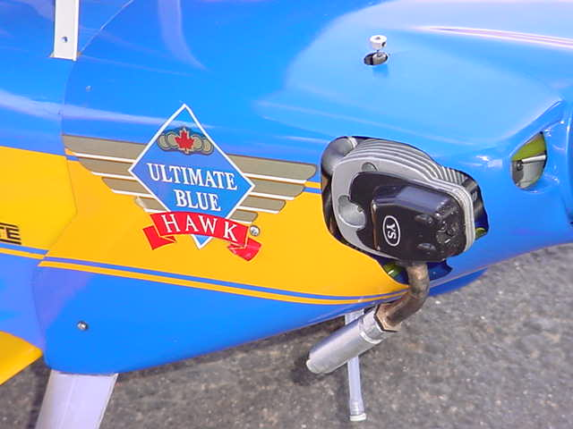 Ultimate Blue Hawk <br> biplane and motor