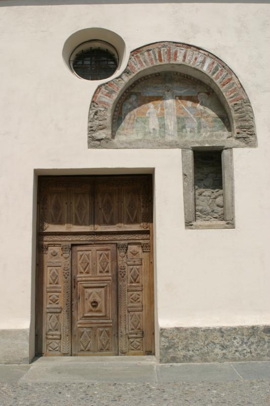 an old roman door