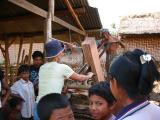 learning to cut wood in Lombok  ( lumber yard )
