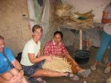 learning to weave a basket in Lombok