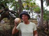 looks like I'm eating again drinking fresh coconut milk this time in Lombok