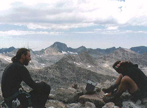 On the summit of Mount Spencer