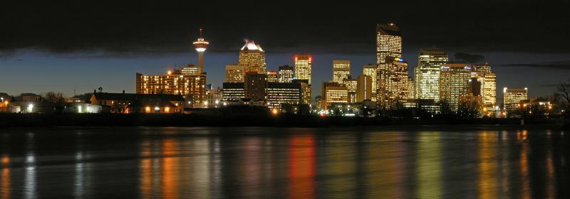 Calgary night pano