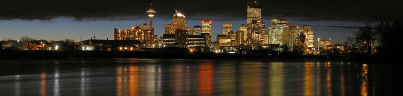 Calgary skyline pano