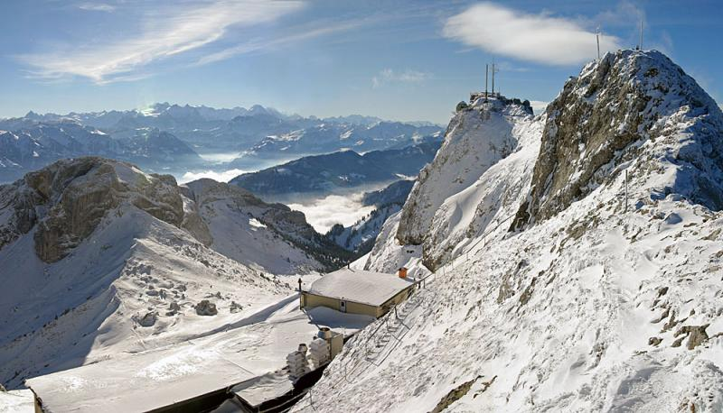 View from mountain Pilatus