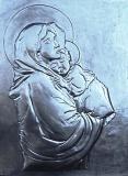 Virgin with child Jesusaluminum 30x40cm