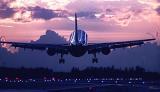 A300 sunset aviation stock photo #SS9506