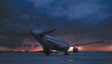 American A300 sunset aviation stock photo #SS9908