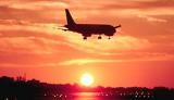 A320 sunset aviation stock photo #SS9929L