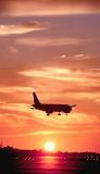 A320 sunset aviation stock photo #SS9929p