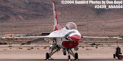 USAF Thunderbird #3 at the 2004 Aviation Nation Air Show stock photo #2439