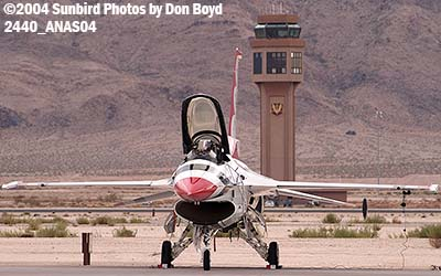 USAF F-16 Thunderbird at the 2004 Aviation Nation Air Show stock photo #2440