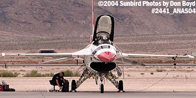 USAF Thunderbird #2 at the 2004 Aviation Nation Air Show stock photo #2441