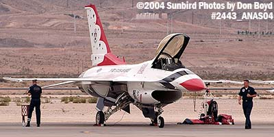 USAF Thunderbird #5 at the 2004 Aviation Nation Air Show stock photo #2443