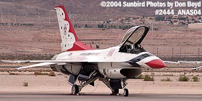USAF Thunderbird #6 at the 2004 Aviation Nation Air Show stock photo #2444